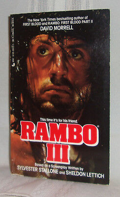 David Morrell RAMBO III First ed Novel Film tie-in Sylvester Stallone Paperback