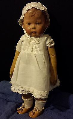 "Artist Choice 16.5"" Vintage Original  Cloth Kathe Kruse Wide Hip 1900-1912 Doll"