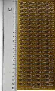 * Aufkleber Stickerbogen  Sticker Schriftzug Menü für Menükarten gold (526