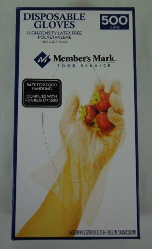 Disposable Gloves 500 Single User Plastic Clear Gloves Member