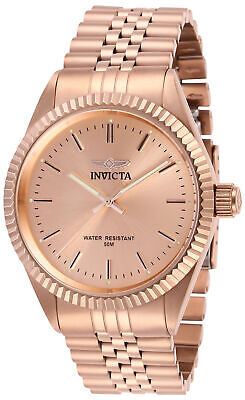 Invicta Men's Watch Specialty Quartz Rose Gold Dial IP Steel Bracelet 29394