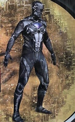 Mens Black Power Ranger Costume XXL 50-52 Bodysuit Disguise Halloween Cosplay](Rangers Costume)