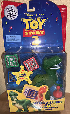 RARE 1 in 200 Toy Story 2 ~Wreck-A-Saurus Rex~ SILVER EDITION..MOC..1999..