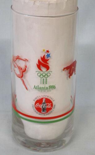 "McDonalds & Coke Atlanta 1996 Olympics Foreign Glass 5 3/4"" Tall"