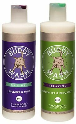 Cloud Star Dog Shampoo Conditioner-Buddy Wash 2 Pack 1 Lavender & Mint -