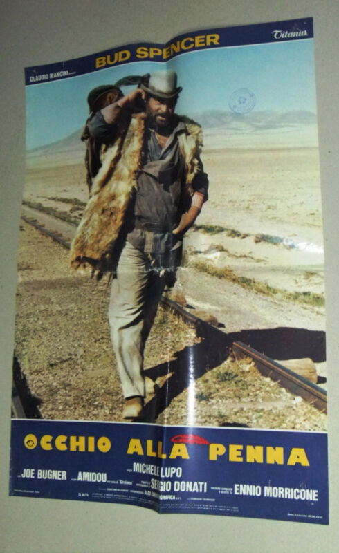 (Set of 10) OCCHIO ALLA PENNA (Bud Spencer) Italian Movie Lobby Card 80s