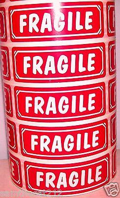 100 Big 1x3 Fragile Label Sticker