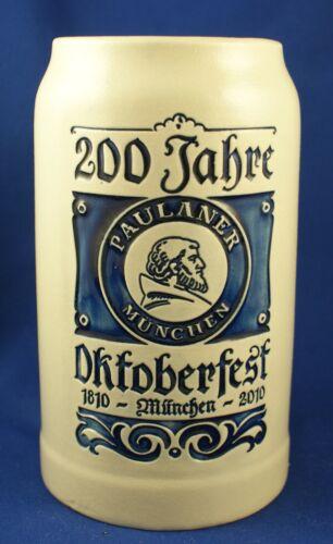 Paulaner Munchen 200 Jahre Beer Stein Octoberfest 1810 - 2010
