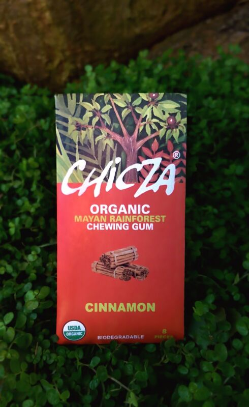 chicza organic chewing gum A better sort of chewing gum, chicza organic rainforest gum is exactly what it sounds like: gum that comes from the chicle tree found in the mayan rainforest produced in mexico for the mayan rain forest co ltd, it has no artificial sweeteners.