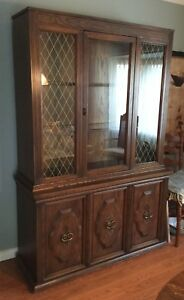 Vintage 1970's Dining Room Hutch and Buffet