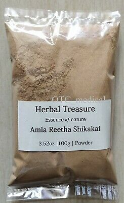 Pure Amla Shikakai Reetha Ayurvedic Powder mixture for hair care Free shipping Ayurvedic Hair Care