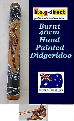 DIDGERIDOO BURNT BAMBOO 40CM ABORIGINAL STYLE BEAUTIFULLY HAND PAINTED NEW BL