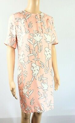 Marni Pink Floral Print Short Sleeve Shift Dress, Size 42, EUC