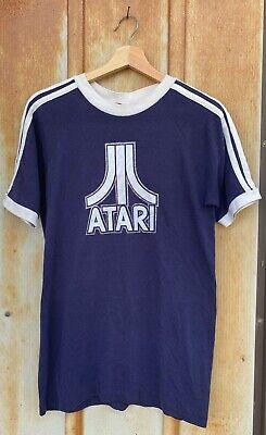 Atari Logo Vintage Blue T-shirt size M Retro Video Games