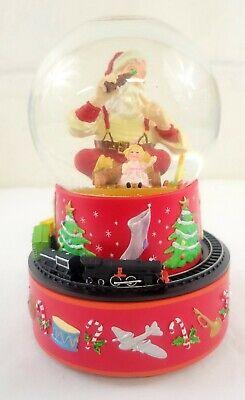 Hallmark Coca-Cola Santa Musical Snow Globe With Moving Train Christmas Holiday