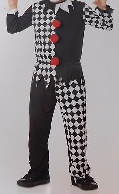 Crazy Jester Boy's Scary Clown Halloween Costume Top and Pants 4-6 Small #5475](Top Scary Costumes Halloween)