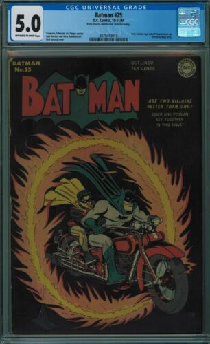 BATMAN #25 CGC 5.0 OFF-WHITE TO WHITE PAGES 1944