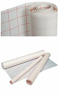 Self Adhesive Clear Sticky Back Plastic Film Grid Cover Exercise Books 30cm x 3m