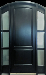 Exterior hard wood door sale as clearance, 50% discount $3600