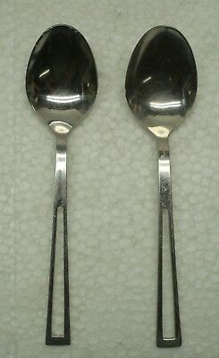 Towle Supreme Cutlery Aperto Set of 2 Oval Soup Spoons 18/8 Stainless - Oval Cutlery Set
