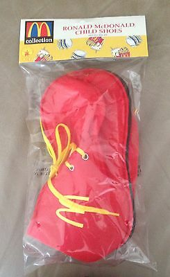 McDonalds Ronald McDonald Child Kids Clown Costume Red Slipper Shoes Accessory](Halloween Ruby Slippers)