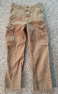 Abercrombie kids sz 12 slim cargo pants heavy duty boys Tan