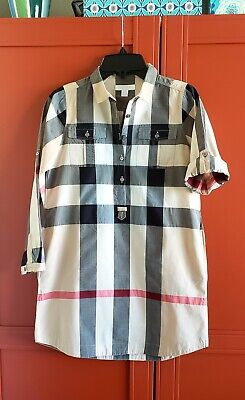 Burberry GIRLS Shirt Dress Child size 10 in Burberry Signature Plaid