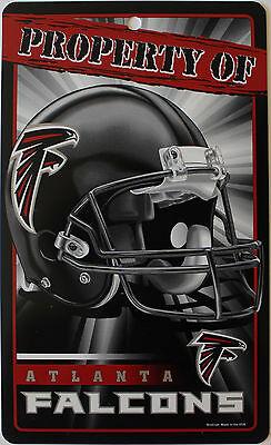 New NFL Licensed Atlanta Falcons Property Sign Plastic Decor Football League