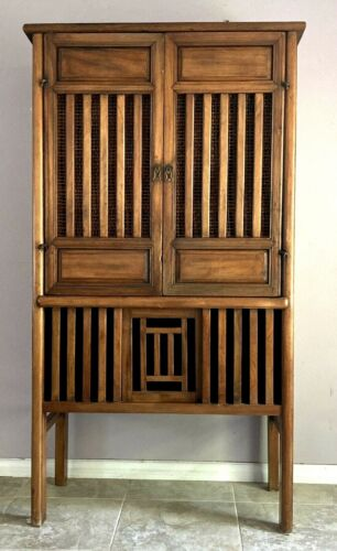 Rare Antique Chinese Camphor  Wooden Tall  Storage Cabinet, 18 th C.