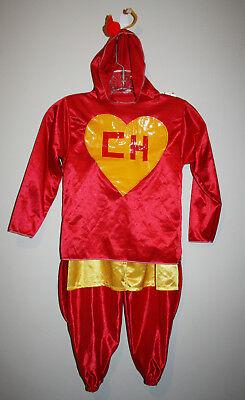 Boys EL CHAPULIN COLORADO Mexican 2 Piece Superhero Halloween Costume Size - Chapulin Colorado Costume