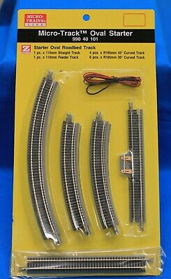 Z Scale - MICRO-TRAINS MTL 990 40 101 Oval StarterPack Track Set with Roadbed for sale  Chillicothe