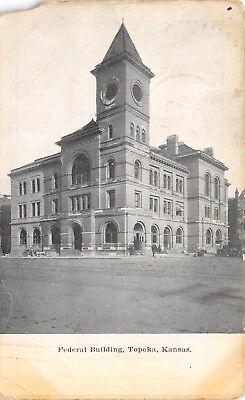 Topeka Kansas 1909 Postcard Federal Building Seneca Kansas Postmark