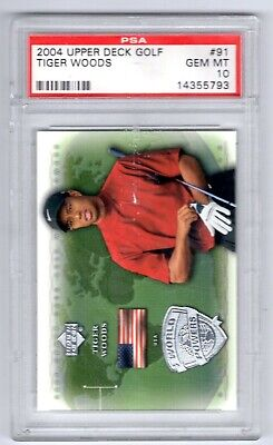 2004 Upper Deck Tiger Woods #91 PSA 10 Scrapes on the front of the case (W3)
