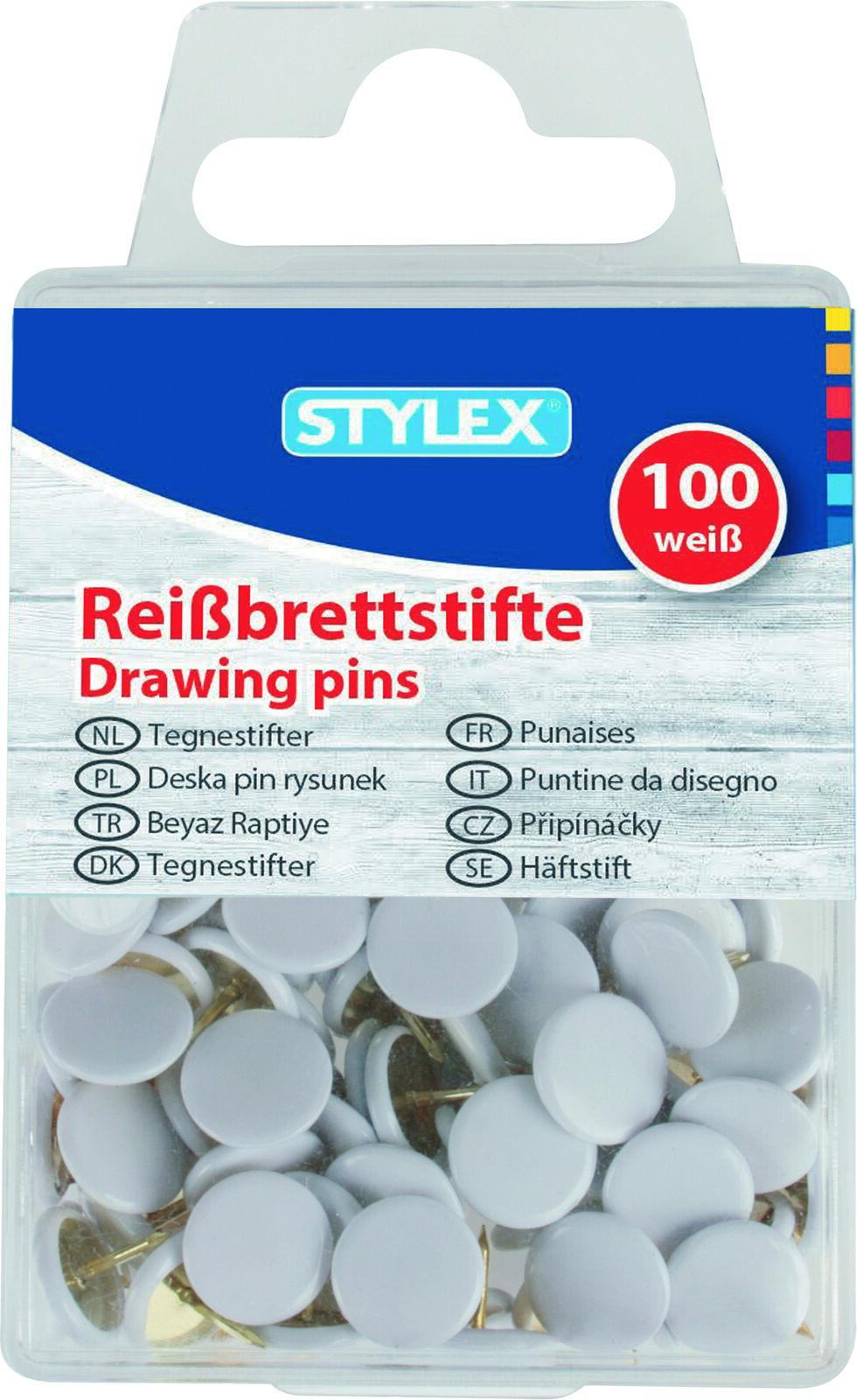 100 Stück Reißbrettstifte Reißzwecken Reißnägel Heftzwecken Pinnwand Pinnadeln!