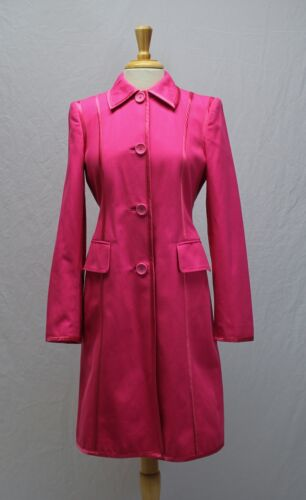 Banana Republic Hot Pink Cotton Trench Coat Jacket