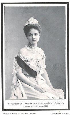 Royalty,Germany,Grand Duchess Caroline,Reuss-Greitz,Daughter of Heinrich XXII
