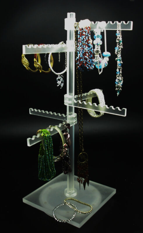 Counter top Spinning Display Jewelry Necklace bracelet keychain Holder turntable