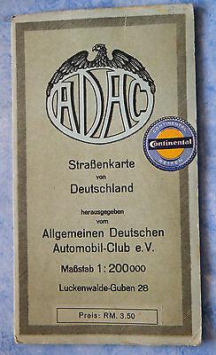 große Straßenkarte Deutschland Luckenwalde Guben Nr. 28 ADAC 1930 Brandenburg