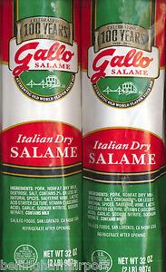 Gallo 4 POUND Salame Salami Dry Chub  #1 Selling Fast FREE PRIORITY SHIP WOWOW!