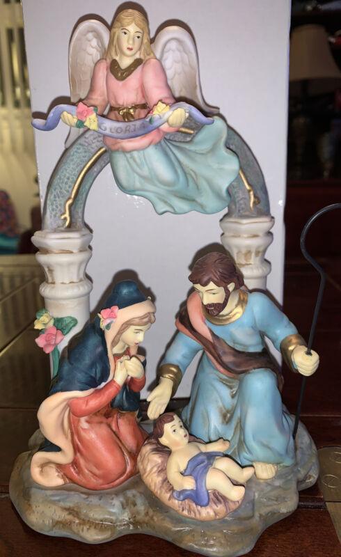 Avon 2002 Holiday Treasures Nativity, holy family, shepherds, kings, porcelain