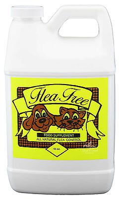 Flea Free Food Supplement 64 oz Natural Dog Cat Pet FleaTick Mite Preventative