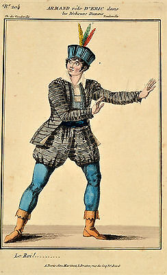 Orig Radierung Martinet 1805 Theater Kostüme Costume Armand Eric Pécheurs