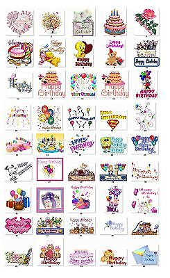 30 Personalized Happy Birthday Wishes Address Labels Buy 3 Get 1 Free  Hb1