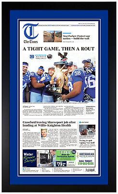 Duke Blue Devils Independence Bowl Champions 12/27/18 Newspaper Reprint (Duke Blue Devils Paper)
