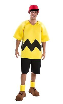 Charlie Brown Peanuts Costume Deluxe Good Grief Adult Cosplay Theater Play Mens
