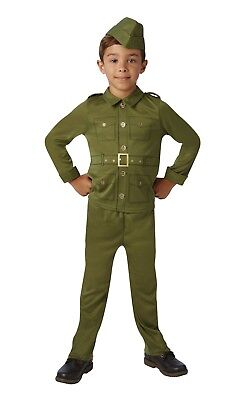 CHILD WORLD WAR 2 SOLDIER BOY COSTUME FANCY DRESS BOOK WEEK WW2