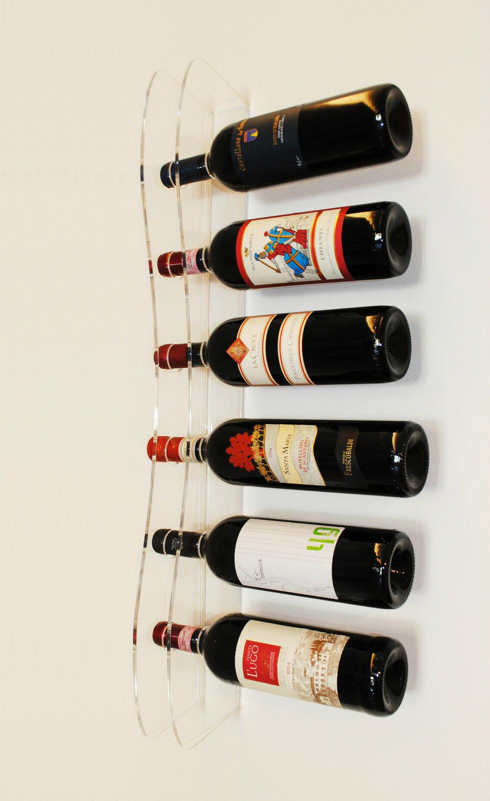 PortaBottiglie Vino da Parete, espositore in Plexiglass Design