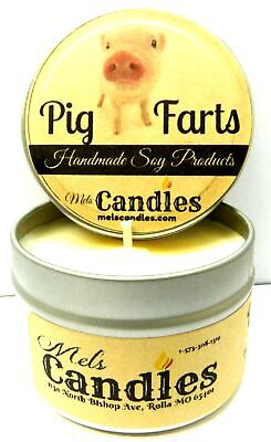 Soy Bacon Bits - Pig Farts (Smells Like Bacon Bits) 4 oz All Natural Handmade Soy Candle Tin