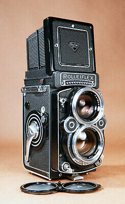 Rollei Rolleiflex 2.8F 12/24 Zeiss Planar 80mm f/2.8 Medium Format TLR Camera! for sale  Shipping to India