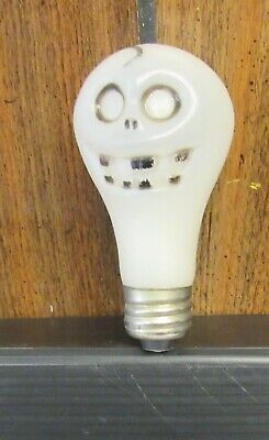 Vintage Halloween Skeleton Plastic Blow Mold Light Bulb